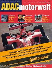 Estate-Test pneumatici in stampa speciale motore ADAC mondo 3/02 TEST PNEUMATICI CONTINENTAL particolare