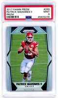 PATRICK MAHOMES 2017 Panini Prizm SILVER Refractor Rookie Card RC PSA 9 Mint 269