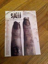 Rare SAW Horror Movie Film Promo Promotional Card/Postcard Original Scary Gory