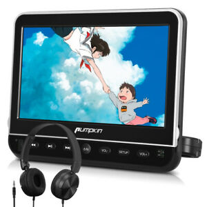"""10.1"""" TFT Car Headrest DVD Player for Kids 1080P LCD Monitor HDMI USB SD+Headset"""