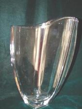 Vintage Original Odd Shape Art Deco Elegant Crystal Clear Glass Vase