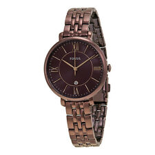 Fossil Jacqueline Wine Dial Ladies Casual Watch ES4100