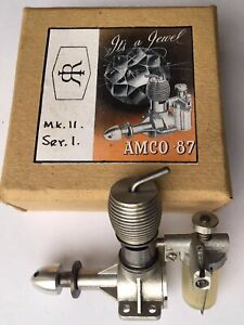 VINTAGE Boxed New Old Stock Amco 0.87 MODEL AIRPLANE/AEROPLANE AIRCRAFT ENGINE