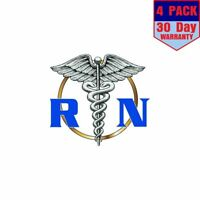 Registered Nurse Rn 4 Stickers 4x4 Inches Sticker Decal