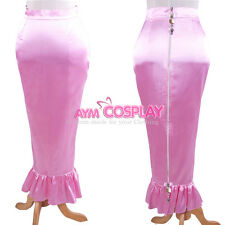 pink Satin lockable Skirt hobby Unisex Tailor-made [G1609]