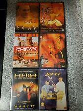 New listing Jet Li Dvd Lot. Once Upon a Time in China 1,2,3, Fong Sai Yuk, Hero, New Legend.