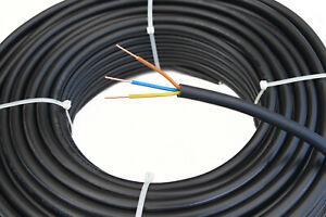 Starkstromkabel 3-adrig, Erdkabel NYY-J 3x2,5mm² 50m Ring nach DIN VDE 0276-603