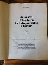 Applications of Solar Energy for Heating and Cooling of Buildings   Jordon & Liu