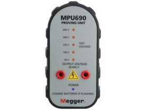 Megger MPU690 Proving Unit Two Pole Tester Voltage Meter MPU 690 1001561