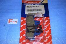 2 plaquettes de frein avant origine Honda XL 600 V TRANSALP 87/90 451A0-MM9-670
