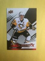 2017-18 UD Conpendium Carbon FX # FX-SP Sidney Crosby Pittsburgh Penguins Insert