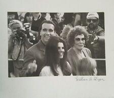 William Laga original signed photo of Arnold Schwarzeneger & Maria Schriver