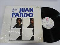 """JUAN PARDO LO MEJOR DE LP VINILO VINYL 12"""" ZAFIRO 1981 VG/VG+ UNICO EN EBAY!!!"""