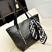 Fashion Women Leather Handbag Lady Skull Print Shoulder Bag Messenger Hobo Tote