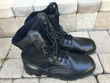 Black Leather Military Jungle Boots Tactical Combat   Size 11