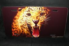 CHEETAH  METAL NOVELTY LICENSE PLATE FOR CARS  TIGER LION JAGUAR