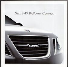 Saab 9-4 X BioPower Concept Car 2008 UK Market Brochure