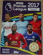 Complete Album 2016/2017 TOPPS MERLIN PREMIER LEAGUE 344 Stickers rempli