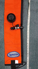 Halcyon Diver's Alert Marker, 3.3' (1 m ) long, oral inflate with OPV SMB Orange
