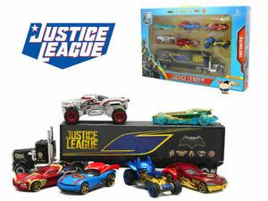 7 Car Truck Justice League Batman Flash Aquaman Wonder Woman Diecast Vehicle Toy