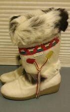 Womens Vtg Tecnica Skandia Apres Navajo Fur Mukluk Boots EU 38, 7.5