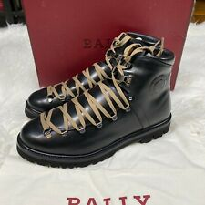 "BALLY CHACK BOOTS BLACK CALF LEATHER MENS BOOTS ""NWT"""
