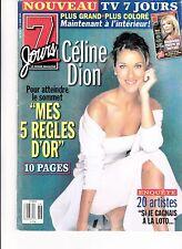 CELINE DION  RARE 7 JOURS MAGAZINE VOLUME 19 MARCH 1999 + FREE CELINE