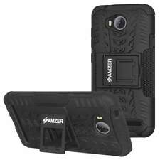 AMZER Hybrid Warrior Dual Layer Soft Cover Hard Shell Stand Case for Huawei Y3II