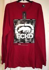 Ecko Unltd. Men's Long Sleeve Rhino Graphic T-shirt SIZE - 2XLT Red NWT