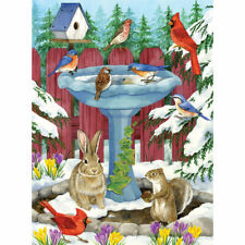 Bits and Pieces Frozen Birdbath 1000 Piece Jigsaw Puzzle