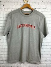 Men's Vintage 90's  Abercrombie & Fitch Size XL Gray T Shirt with Red Logo