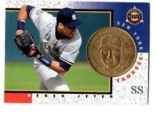1998 Pinnacle Mint BRASS #9 DEREKJETER card WITH Coin NEW YORK YANKEES