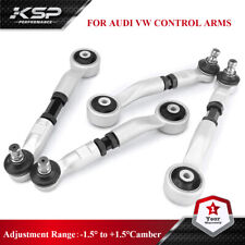 KSP 4PC Adjustable Upper Control Arms Kit For Audi A4 Quattro A5 S5 A6 S6 Passat