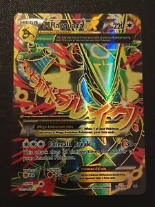 Pokemon Card mega m rayquaza EX 105/108 roaring skies rare excellent