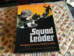 Vintage Avalon Hill boxed game - Squad Leader from 1977