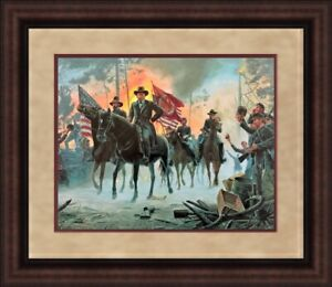 Mort Kunstler Civil War- On to Richmond CUSTOM FRAMED FREE SHIP