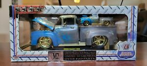 1956 Ford F-100 RAW CHASE 1/24 M2 Machines Ground Pounders Die-Cast Replica