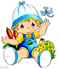 """5.5"""" Precious moments boy dragonfly wall safe sticker border cut out character"""