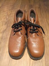 mens brown shoes size UK 9 lace up leather upper heat oil resistant sole Winter