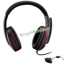 & Red Headset Headphone w/mic for Microsoft Xbox 360 Controller Live