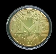 24k Gold Plated Monero XMR Crypto currency. 1.2 oz. Collectible Novelty Coin