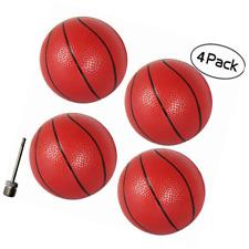 "Gamtec 4Pcs Toddlers/Kids Replacement Rubber Mini Toy Plastic Basketballs 6.29"""