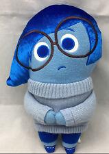 "Disney Pook a Loos Blue Sadness Plush Sweater Big Eye Glasses 12"""