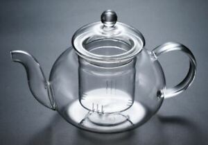 Gas Stove Heatable Glass Teapot Glass Kettle With Glass Infuser Tea Maker 400ml