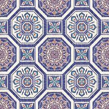 Tropics brasillia Azulejos Papel Pintado -azul- Arthouse 690500