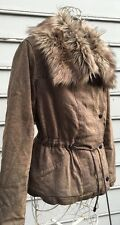 Free People Olive Green Faux Fur Women's Winter Jacket Sz S