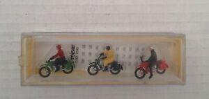 PRESIER HO  3 MOTOR CYCLIST   CAT;81         NEW IN UNOPENED BOX