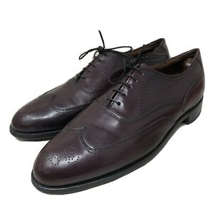 Leather Mens Bostonian Burgundy Wingtip Oxford Shoes Sz 11.5D Made in USA