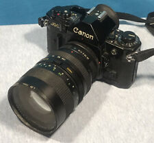 Canon AE-1 35mm SLR Camera 35-105 mm ZOOM Lens Tested & Working As Intended.