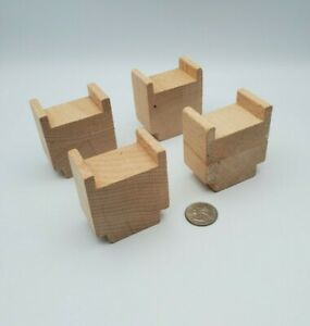 Wooden Railway Track Risers Supports Lot x4 works w Thomas & Friends Train, BRIO